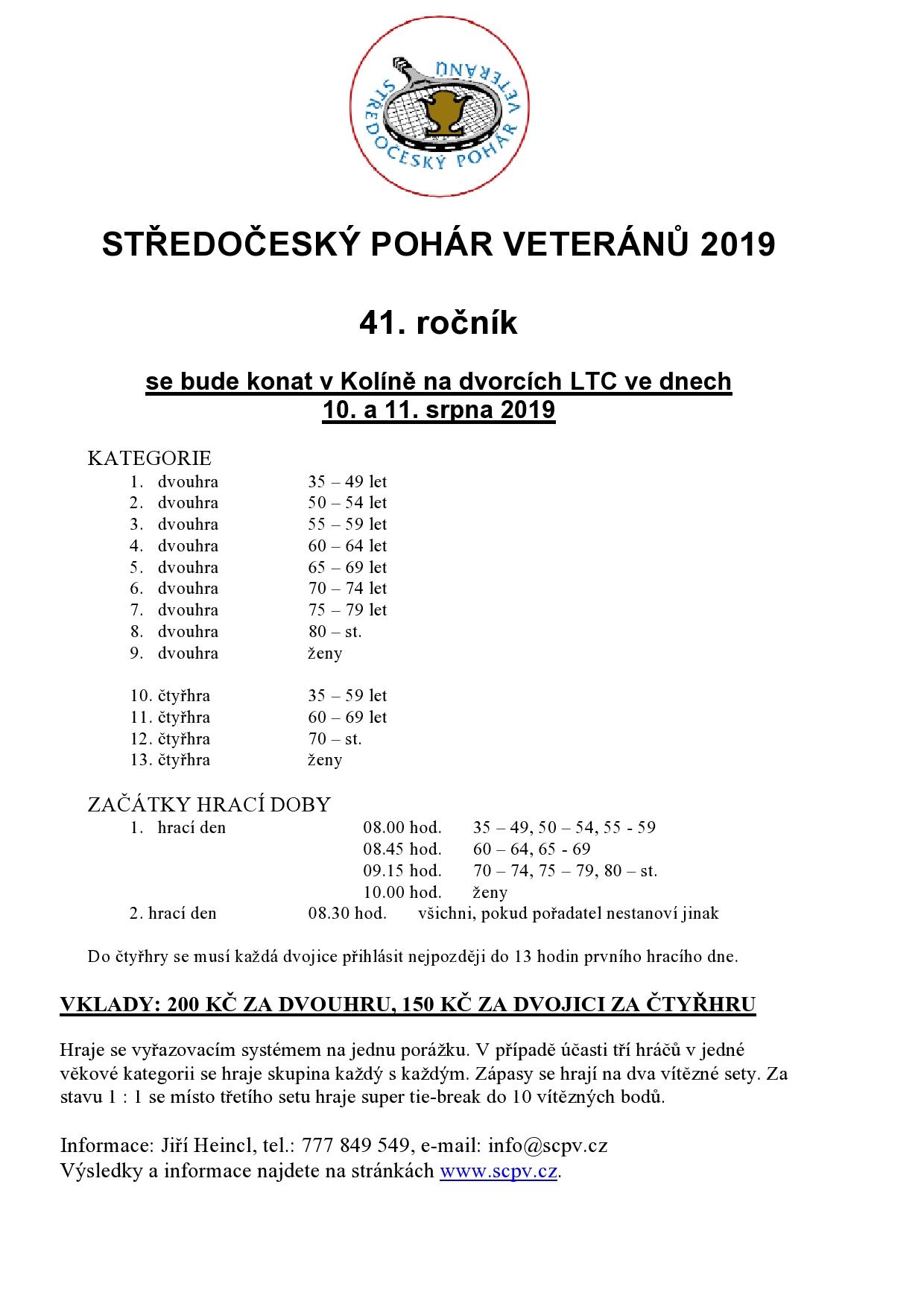 Středočeský pohár veteránů